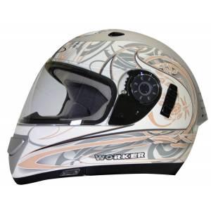 Casca motocicleta WORKER V170 - alb