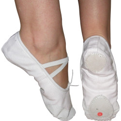 Pantofi balet, moi, albi Maxima