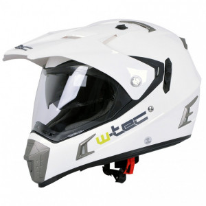 Casca moto W-TEC NK-311 -glossy alb