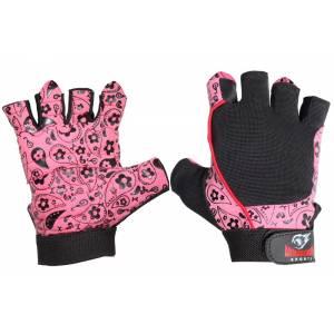 Manusi de fitness femei Armaghedon Sport flori roz