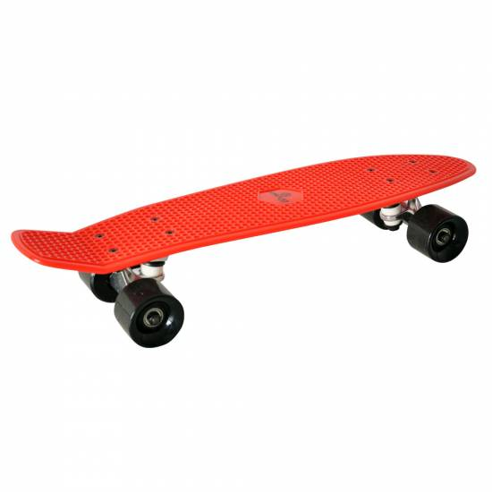 Penny Board SPARTAN Plastic Board 22.5, Rosu