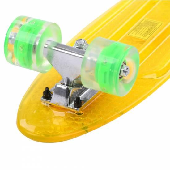 Penny Board Maronad Retro Transparent Light Wheels 22 Portocaliu