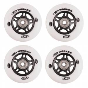 Set roti pentru role WORKER 80 mm cu rulmenti ABEC-7 chrome