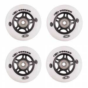 Set roti WORKER 72mm cu rulmenti ABEC-7 Chrome