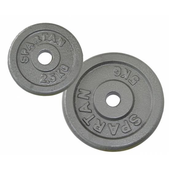 Disc greutati din otel SPARTAN 2 x 1,25 kg / 50mm