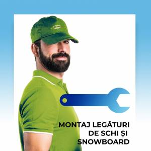 Montaj legaturi de schi si snowboard