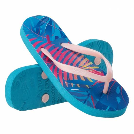 Papuci flip-flops pentru copii AQUAWAVE Padma JR, Albastru / Roz