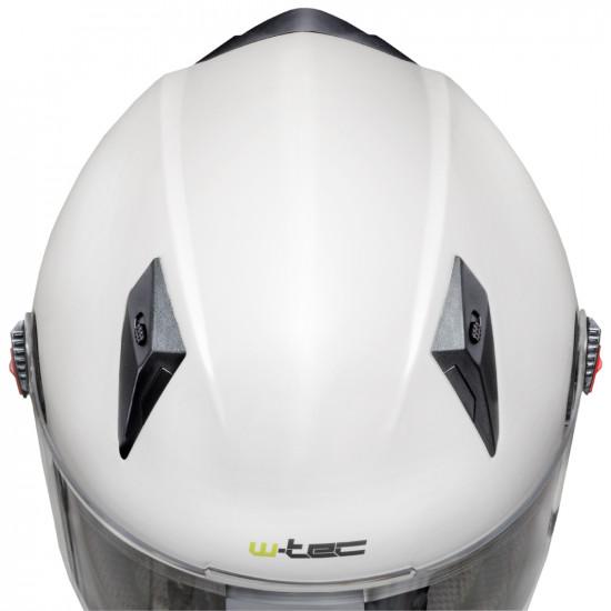 Casca moto W-TEC NK-863, Alb lucios