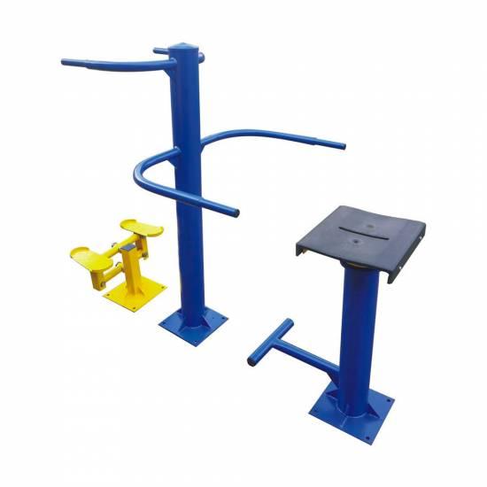 Aparat de fitness pentru exterior - Scaun rotativ cu stepper