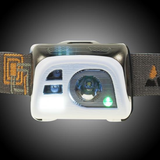 Lanterna frontala YATE Vega AKU, Alb / Negru