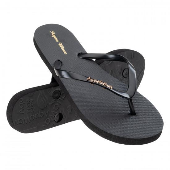 Papuci flip flop pentru femei AQUAWAVE Crystal, Negru