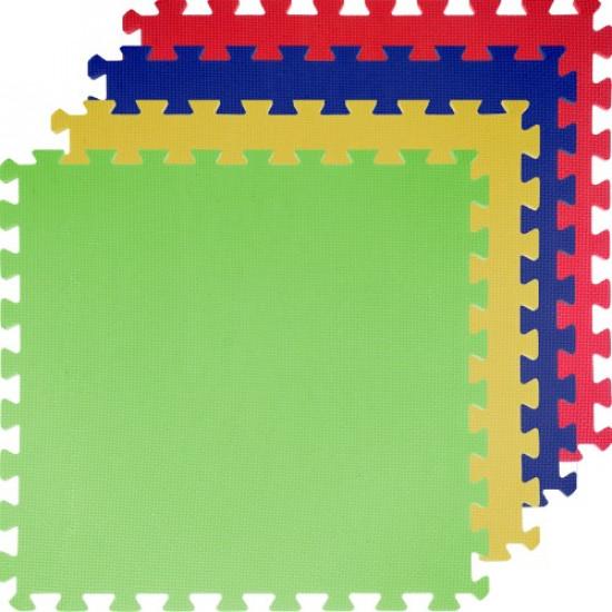 Saltea monostrat MAXIMA EVA 120 x120 cm, Rosu/Galben/Albastru/Verde