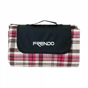 Pătură pentru camping FRENDO, Roz