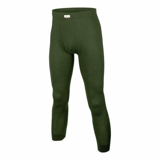 Pantaloni din Lana Merino LASTING Atok, Verde inchis