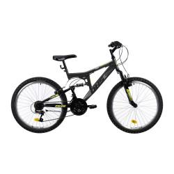 """Bicicleta cu suspensie completa DHS 2441 24 """"- model 2021, Gri"""