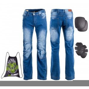 Blugi moto pentru barbati W-TEC Shiquet, Albastru