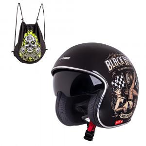 Casca moto W-TEC V537 Black Heart, Black Sheen