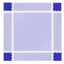 Set de piese de colt pentru podele modulare Simple, Albastru