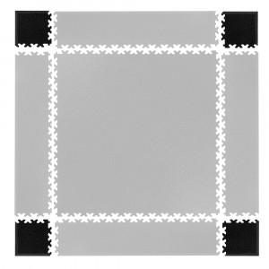 Set de piese de colt pentru podele modulare Simple, Negru