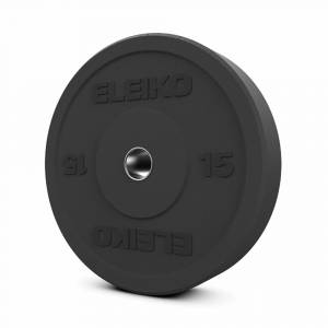 Disc Olimpic de fitness Eleiko XF Bumper - 15 kg, Negru