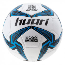 Minge de fotbal HUARI Nazare, Alb/Albastru/Negru