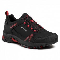 Pantofi de trekking pentru femei HI-TEC Hapiter Low WP Wo s, Negru/Rosu
