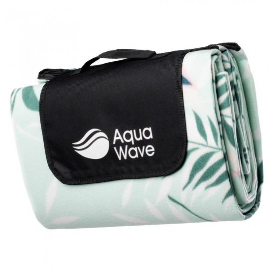 Patura de camping AQUAWAVE Salva Dusty Aqua, 200x200 cm