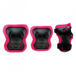 Set de protectii pentru fete COOLSLIDE Guardiano, Negru/Roz