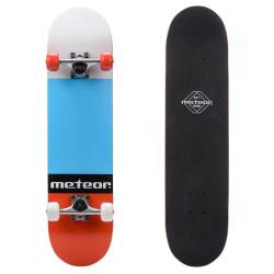 Skateboard METEOR Salty, Rosu/Albastru