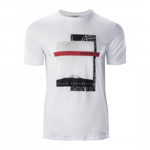 Tricou pentru barbati HI-TEC Baris, Alb