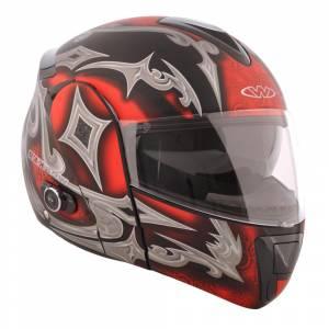 Casca motocicleta cu Bluetooth WORKER V210, Rosu