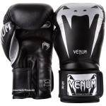 Manusi de box VENUM GIANT 3 Nappa leather Negru/Argintiu