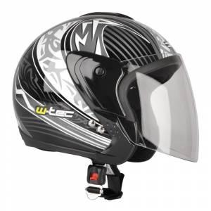 Casca moto W-tec MAX617, Negru grafic