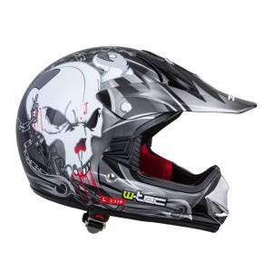Casca W-TEC V310 Junior negru cu craniu