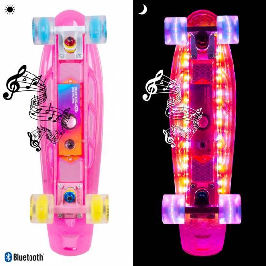 "Penny Board Light-Up WORKER Ravery 22 ""cu difuzor Bluetooth"