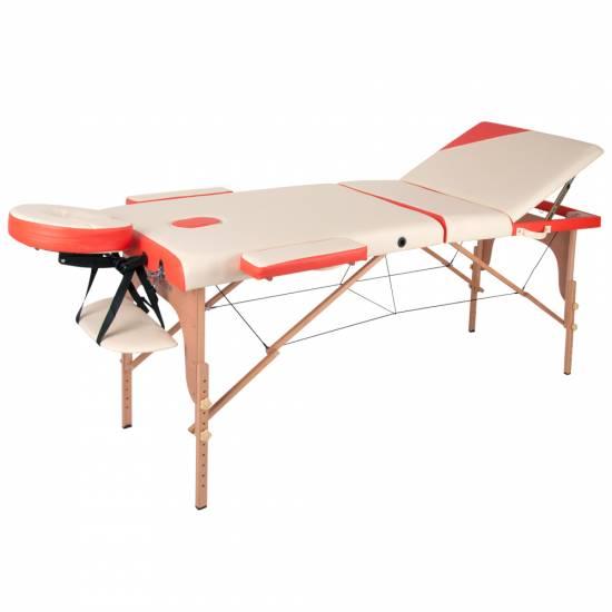Masa de masaj inSPORTline Japane 3-din lemn modular