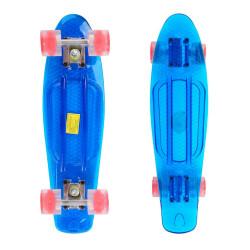 Penny Board Maronad Retro Transparent Light Up Wheels 22,Albastru