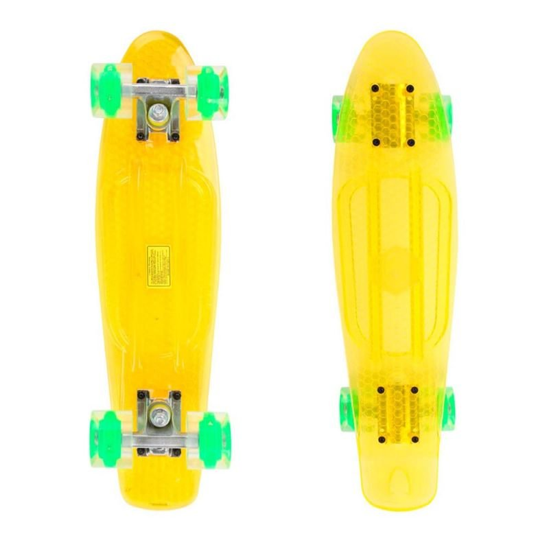 Penny Board Maronad Retro Transparent W/Light Up Wheels 22 Galben
