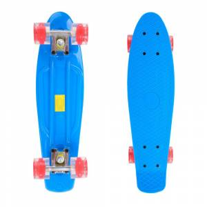 Pennyboard Maronad Retro W/ Light Up Wheels 22, Albastru