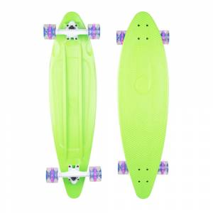 Placa Longboard Plastic WORKER Pike 36ʺ W/ Light Up Wheels, Verde