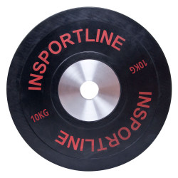 Greutate olimpica disc cu protectie inSPORTline Bumper Plate 10kg