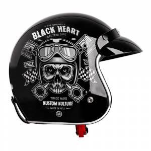 Casca Moto W-TEC V541 Black Heart, Cap de mort