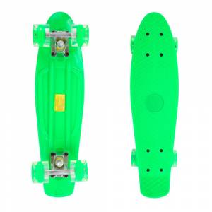Penny board Maronad Retro W/ Light Up Wheels 22, Verde