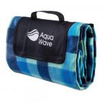 Pătura pentru picnic  AQUAWAVE Chequa Blanket, Print Albastru