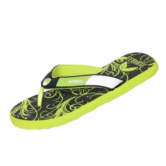 Papuci Flip-Flop ELBRUS Marina Wos, Negru / Lime
