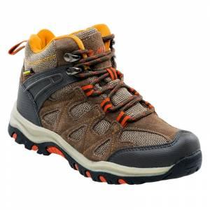 Pantofi de juniori pentru exterior HI-TEC Kaori Mid WP Jr, Maro / Portocaliu