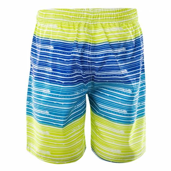 Pantaloni scurti de inot Jr AQUAWAVE Barcode Jr, Alb/Albastru