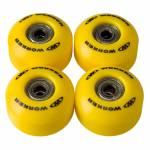 Roti pentru skateboard cu rulmenti WORKER 50 x 30 mm