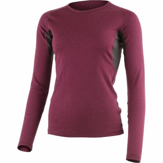 Bluza termo femei din lana  LASTING Berta, Visiniu