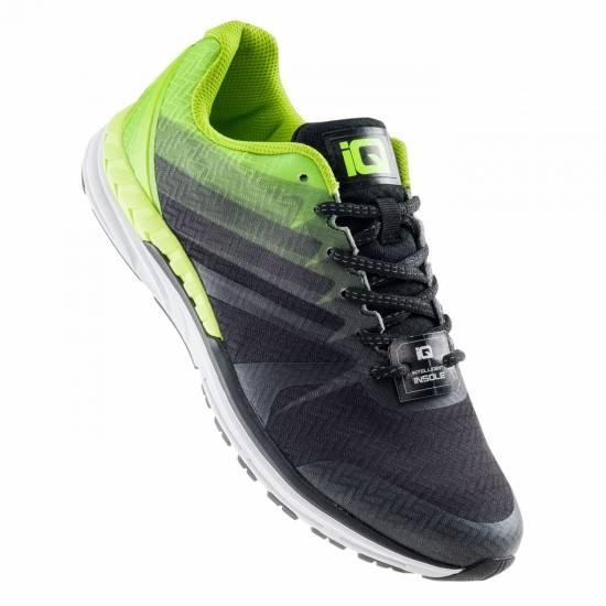 Pantofi sport de alergat barbati IQ Bardai, Negru/Lime